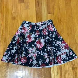 Abercrombie & Fitch Neoprene Floral Slater Skirt